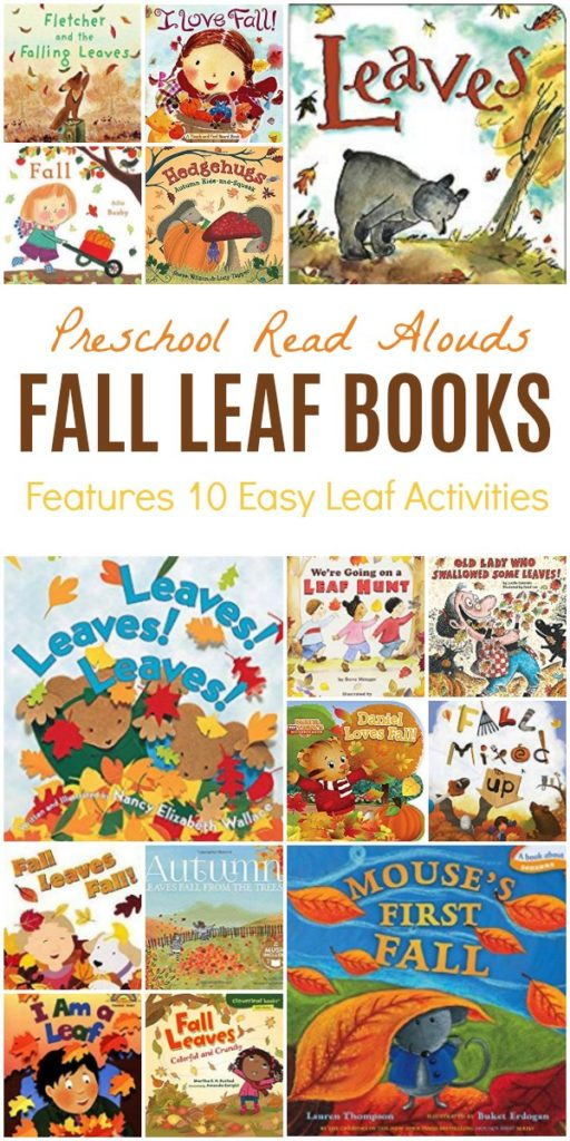 Fall Leaf Books for Read Aloud with Preschoolers and Toddlers