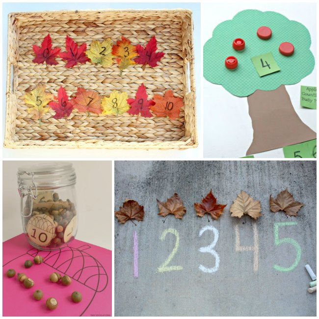 Fall Math Activities for Preschoolers and Toddlers