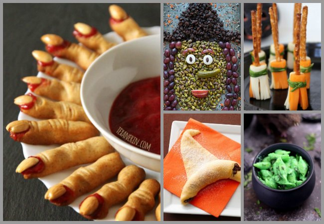 Savory Witch themed Halloween Party food for Kids