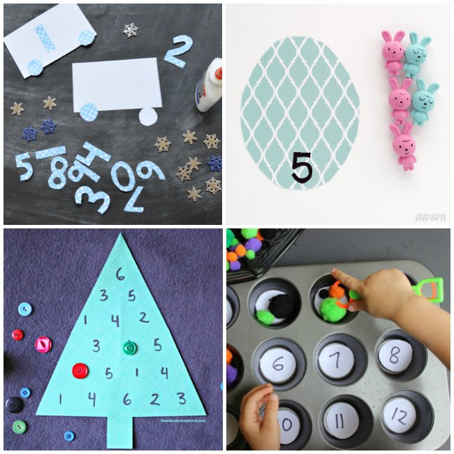 Seasonal Themed Math Games for Preschoolers