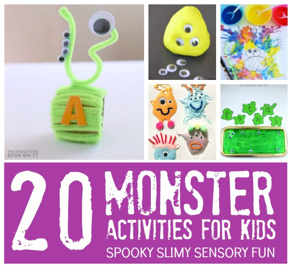 20 Monster Activities for Preschoolers