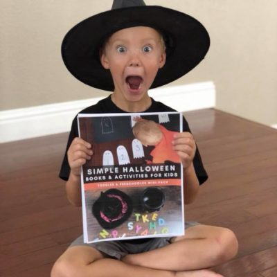 Halloween Books Challenge for Toddlers and Preschoolers