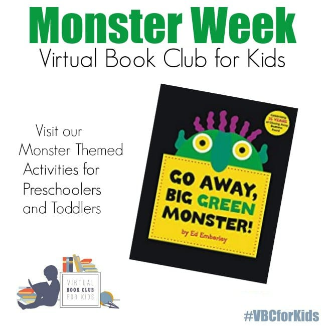 Go Away Big Green Monster Book Cover with Monster Week at the Virtual Book Club for Kids