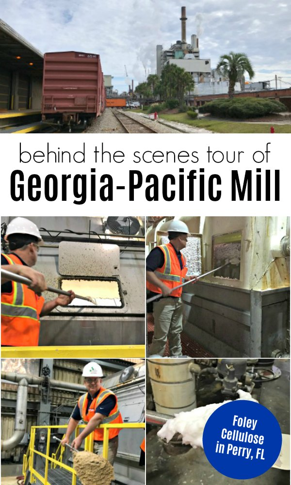 Behind the Scenes tour of Georgia-Pacific Foley Cellulose Mill in Perry, Florida