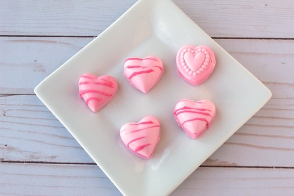 Heart Shaped Cake Ball Bites for Valentine's Day Candy