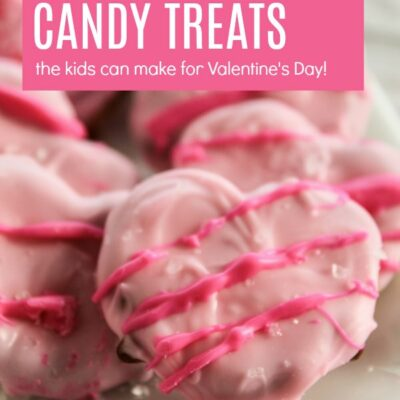 Making Heart Shaped Pretzel Candy for Valentine's Day with Kids