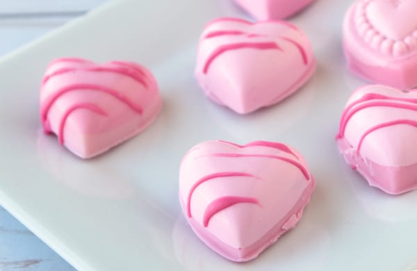 How to Make Heart Shaped Cake Ball Bites for Valentine's Day Candy