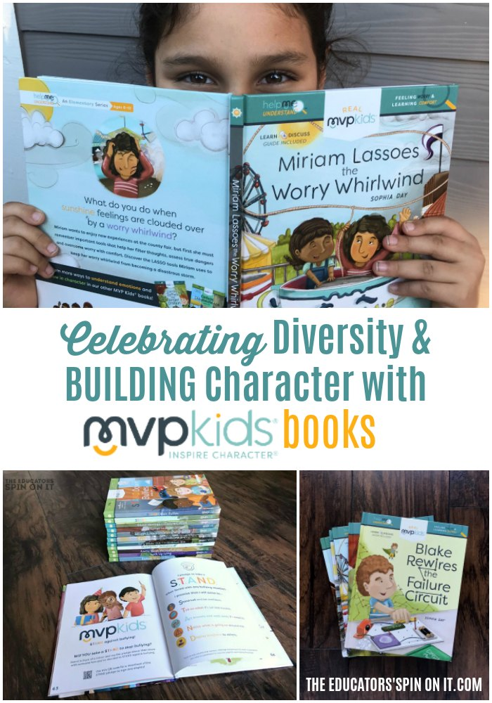 Child holding book from MVPKIDS BOOKS to celebrate diversity and build character