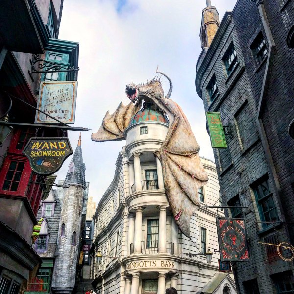 Gringotts Bank ride at Universal Studios in Orlando
