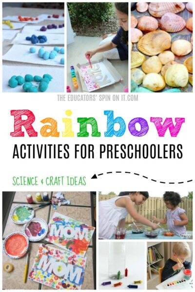 Rainbow Activities for Preschoolers that feature Science and Craft Ideas