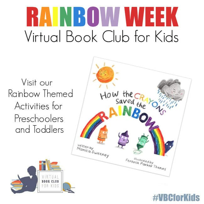 Rainbow Themed Activities for Preschoolers and Toddlers from Virtual Book Club for Kids