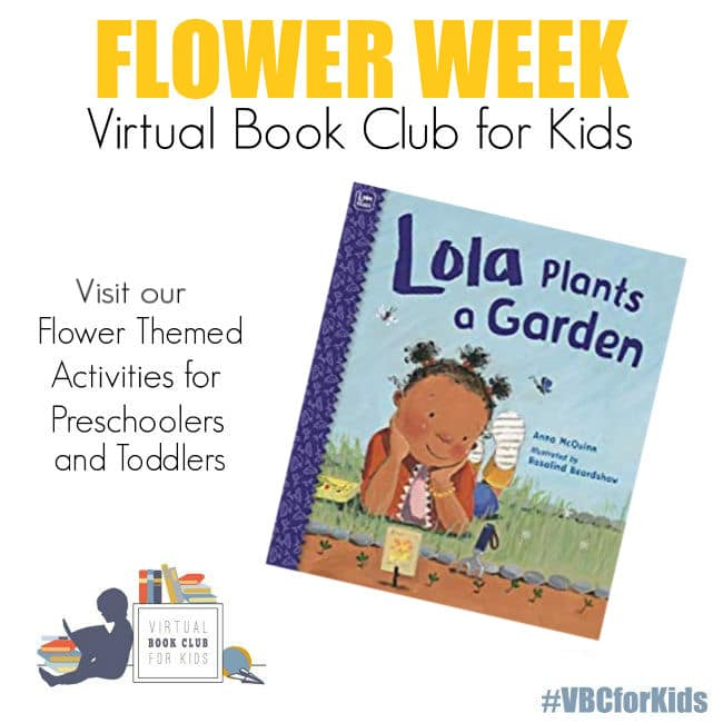 Spring Flowers Themed Activities and Books for Virtual Book Club for Kids