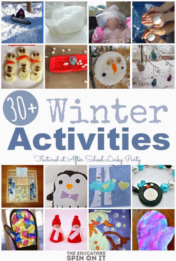 winter activities featured for kids