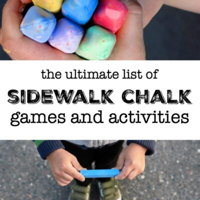 The BEST Sidewalk Chalk Activities for Kids