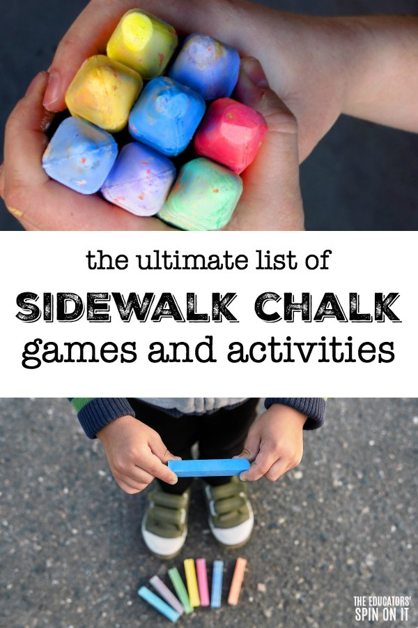 kids holding sidewalk chalk to play the best sidewalk chalk activities for kids