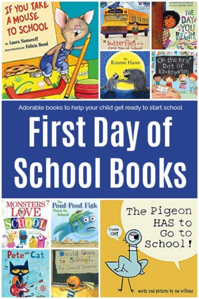 Featured books for the first day of school books.