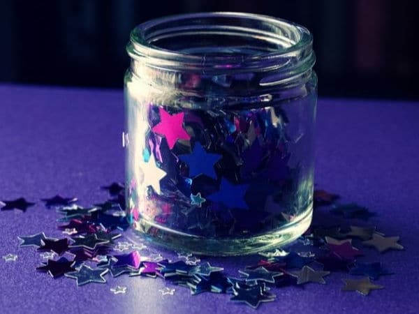 First Day of School Magic Dust Idea for Kids with Star Sequins