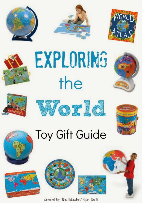 Featured toys about the world for kids with globes, puzzles, games and more.