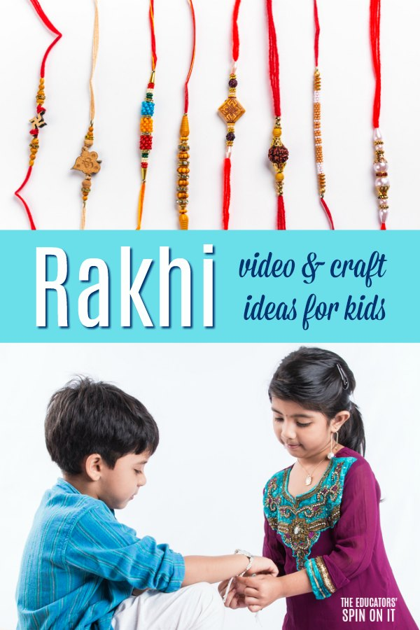 Rakhi video and craft ideas for kids with bracelets and brother and sister celebrating Raksha Bandhan