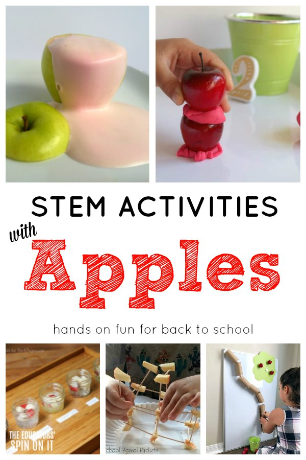 STEM activities with Apples for back to school STEM.