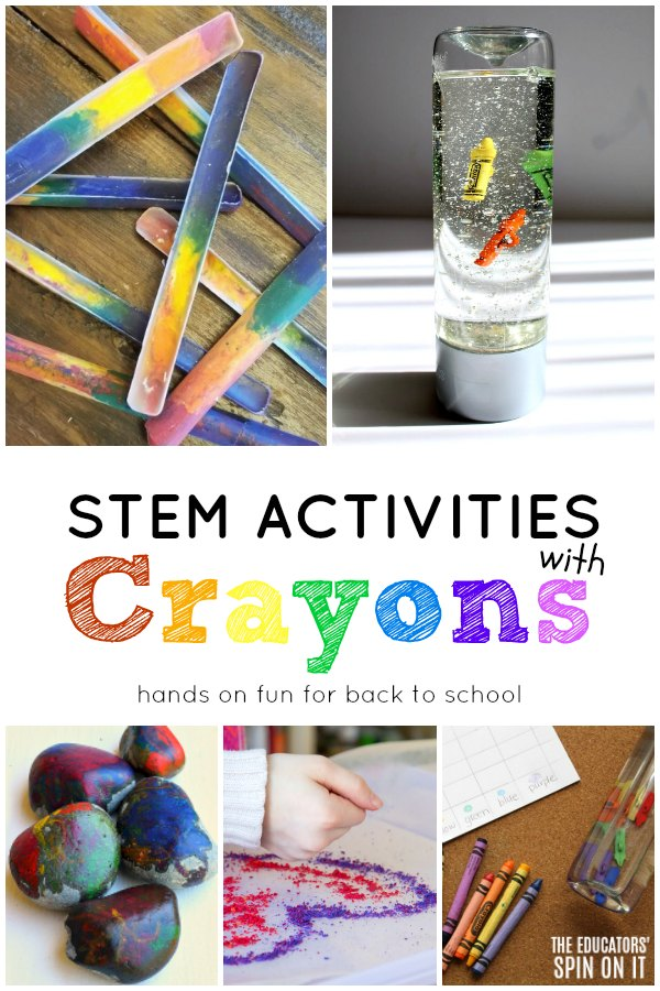 Crayon Activities for kids for back to school stem