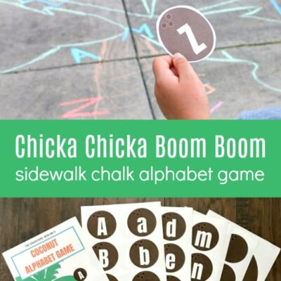 Sidewalk Chalk Chicka Chicka Boom Boom Alphabet Game