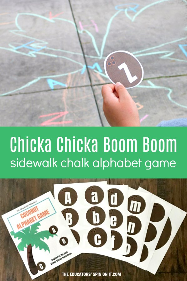 photograph regarding Chicka Chicka Boom Boom Printable Book referred to as Sidewalk Chalk Chicka Chicka Growth Growth Alphabet Recreation - The