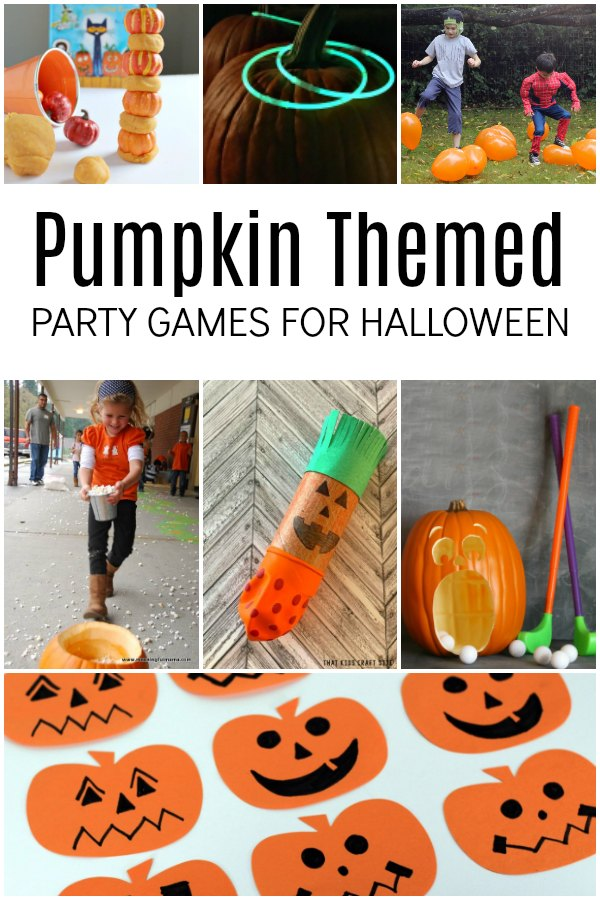 Pumpkin Themed Party Game for Halloween with Kids