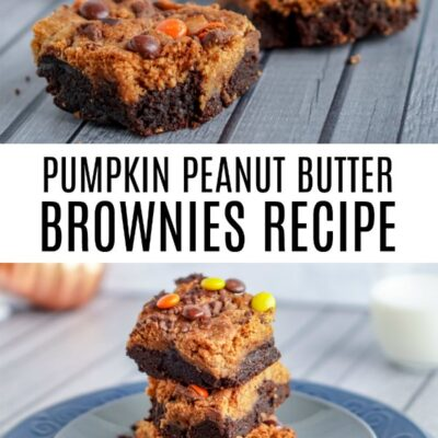 Peanut Butter Pumpkin Brownies Recipe