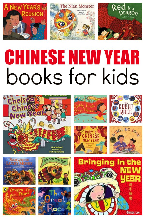 Book covers featuring books about the Chinese New year for ids