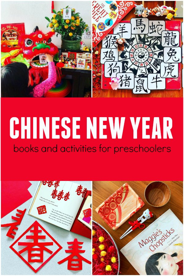Collection of Chinese New Year Activities for Kids with with boos and activities