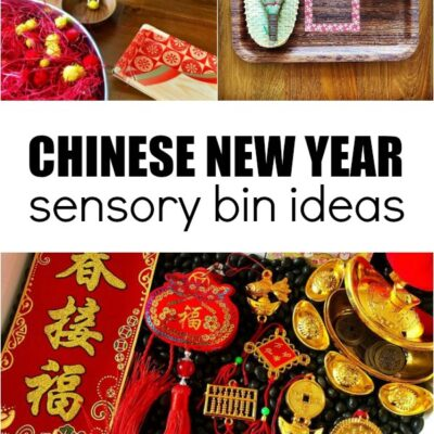 Chinese New Year Sensory Bin Ideas