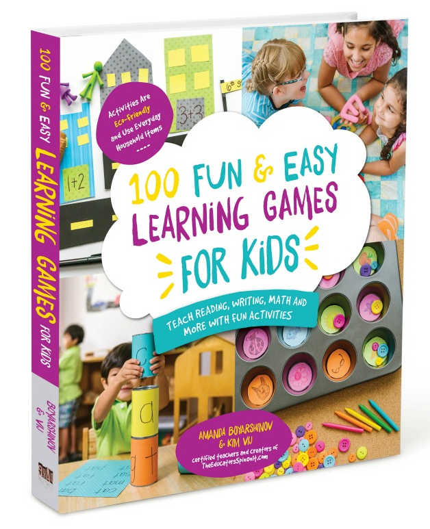 100 fun and Easy Learning Games for Kids Book Cover Standing