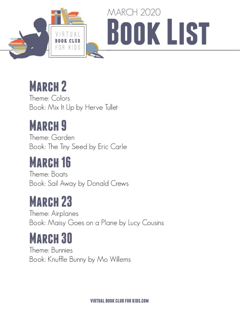 Printable March Books for Preschoolers List