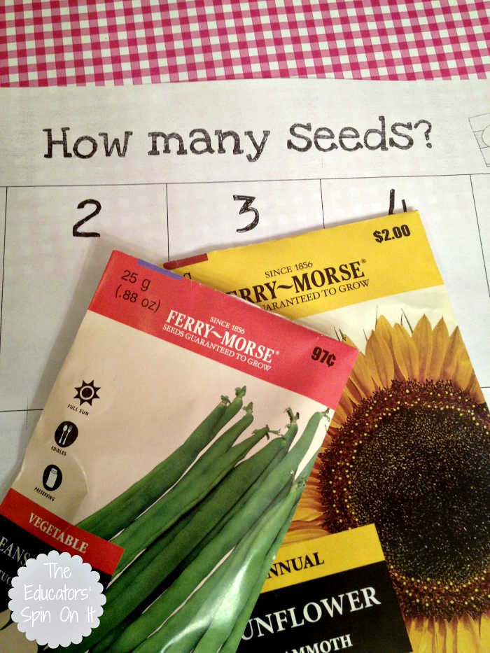Seed packets with printable seed activities inspired by the book the Tiny Seed.