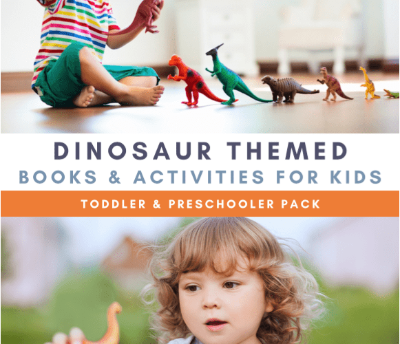 virtual Book club for kids activity with dinosaurs