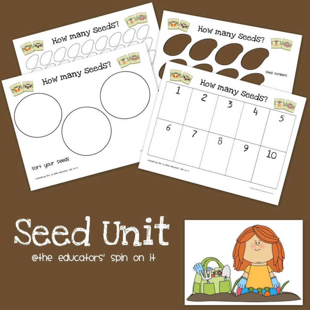 Seed Unit Printables to go along with the book The Tiny Seed.