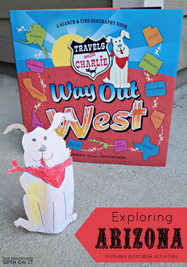 Way Out West Book with Dog Character sharing about the state of Arizona