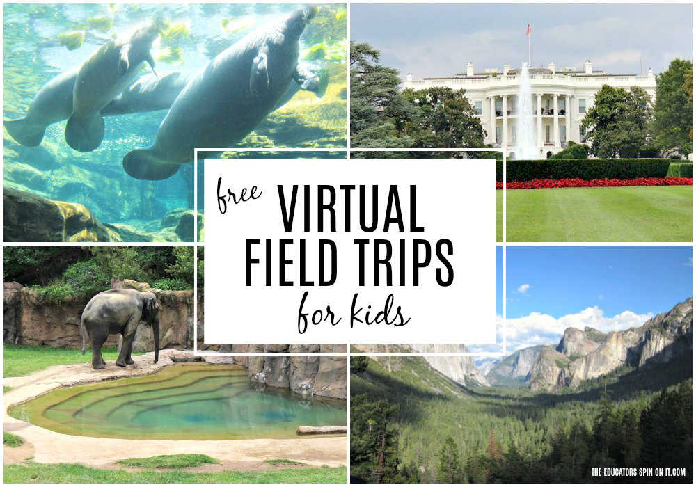 Virtual Field Trips for Kid featuring National Zoo, Manatees, White House and Yosemite
