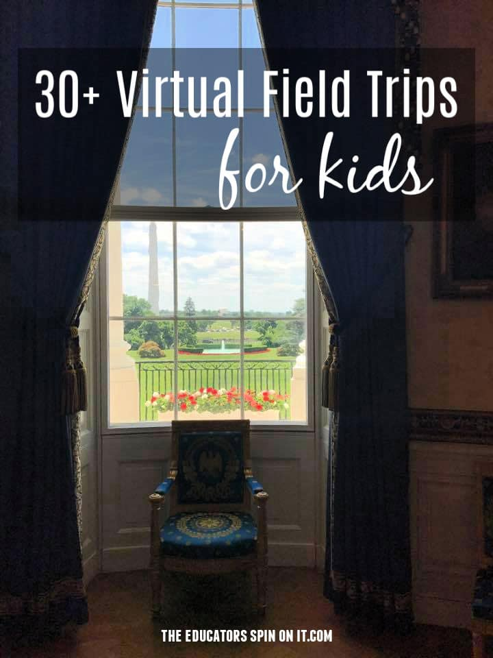 interior view of white house tour for suggestions for virtual field trips for kids