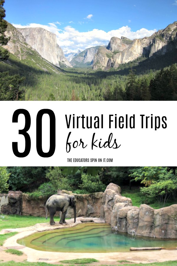 Yosemite and National Zoo images featured Virtual Field Trips for Kids