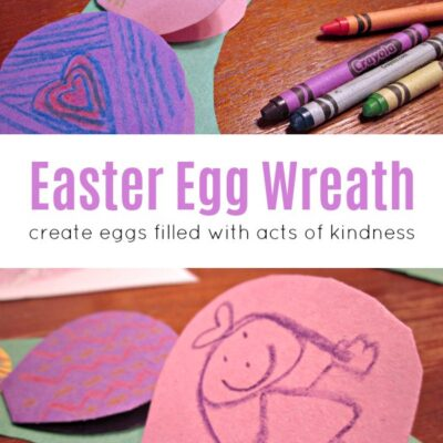 Easter Egg Wreath for Kids
