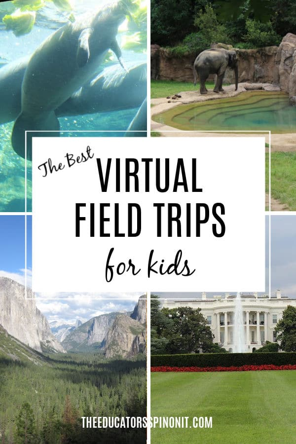 virtual field trips for kids featuring white house, yosemite, manatees and elephants and DC zoo