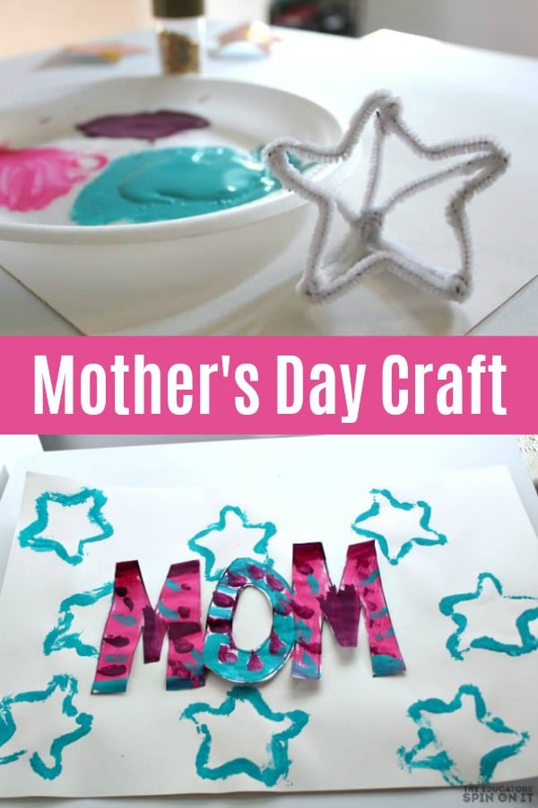 Star themed mothers day draft for kids