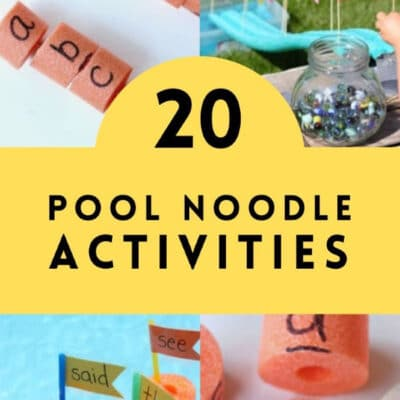 20 Pool Noodle Learning Activities for Kids