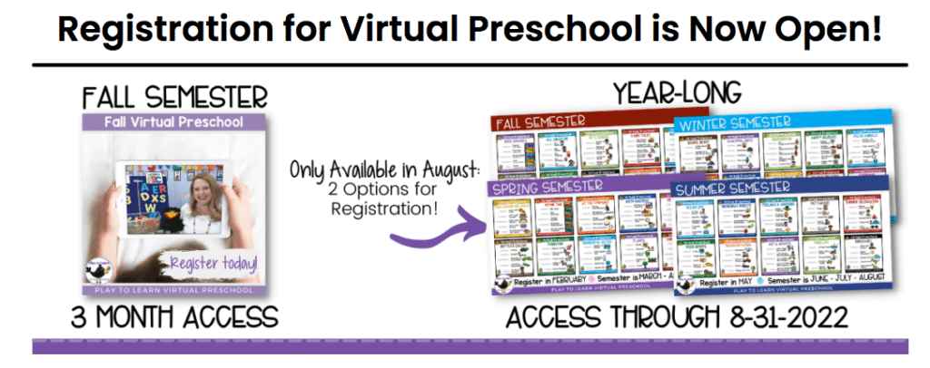 Virtual Preschool Class