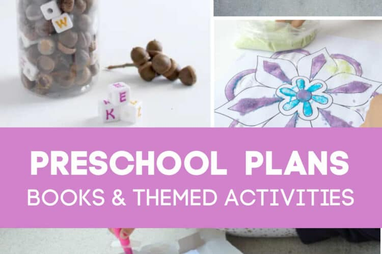 Preschool activities for Kids with themes and books
