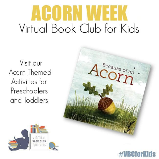 Acorn week activities for preschoolers and toddlers