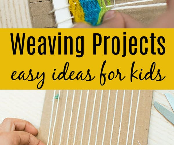 how to teach a child to weave with cardboard loom and yarn