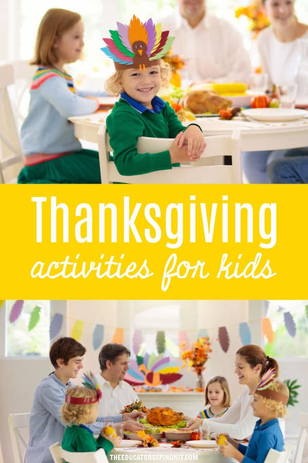 Family celebrating Thanksgiving with thanksgiving Craft Ideas for Elementary school ages